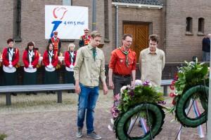 4 mei dodenherdenking Scouting ulft kranslegging