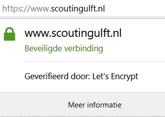 Scouting Ulft gebruikt vanaf nu HTTPS